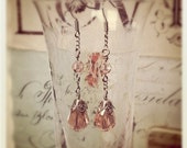 Vintage Rose Swarovski Drop Earrings