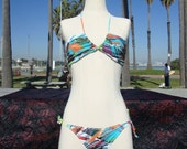 RESERVED FOR SHAWNA - 80s Print : Large - Brazilian String Bikini - String Theory