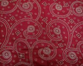 Red Vintage Art Silk Saree Used Dress Women Wrap Indian Recycled Sari Craft Home Decor Fabric - SCR406