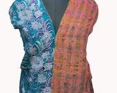 SALE Vintage Kantha Dupatta Silk fabric Stole Craft Deco Hijab Indian Long Stole SALE - SCR589