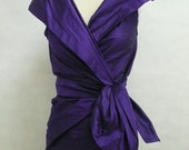 Special Order for  Nicolien -- Made Maria Severyna Royal Purple Dupioni Skirt