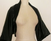 Special Order For Corrine - MARIA SEVERYNA Draped Leather AND Jersey Shrug Jacket - First Payment