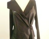 Maria Severyna Black lambskin Leather and Jersey Biker Jacket - Available in many colors