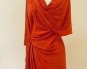 MARIA SEVERYNA Draped Silk Dress