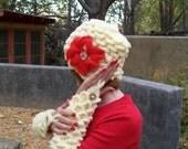 crocodile stitch hat and gloves