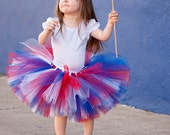 4th of July/ Military homecoming tutu- -red, white, and blue-custom made - 4-5  years