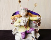 Victorian Prince Pincushion, Vintage and Upcycled