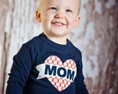 Mom Tattoo Inspired Navy Mother's Day Shirt, Valentines Day Outfit, First Valentines Day, Valentine, Valentine's Day, Boy Valentines