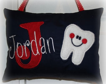 Tooth Fairy Pillow for Boys Personalized Boutique Custom Made