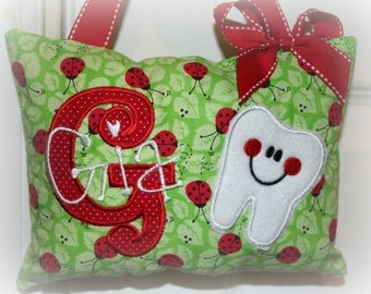 Girls Tooth Fairy Pillow - personalized