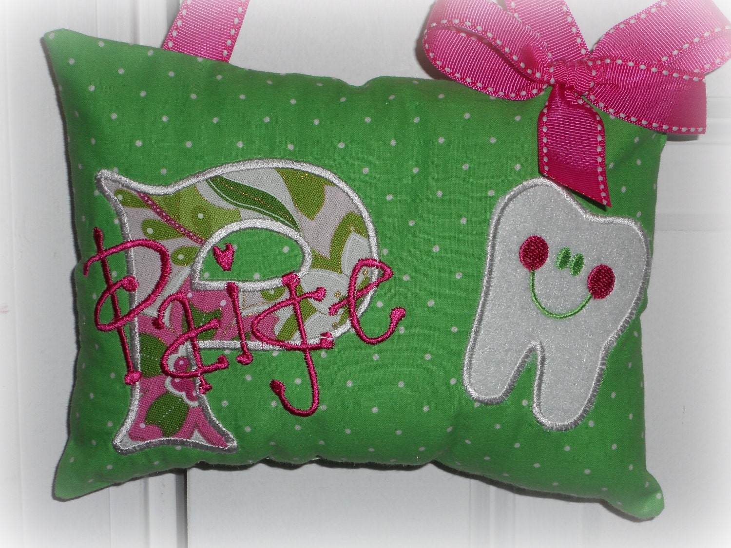Cute Tooth Pillow : Tooth Fairy Pillow for Girls Personalized
