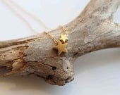 My little star. 24k gold Vermeil dainty everyday star charm necklace