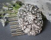 VANESSA, Victorian Wedding Hair Comb, SWAROVSKI Crystal Bridal Hair Comb, Vintage Style Wedding Hair Comb, Wedding Bridal Hair Accessory