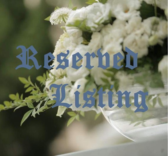 Reserved Listing for Alyssa