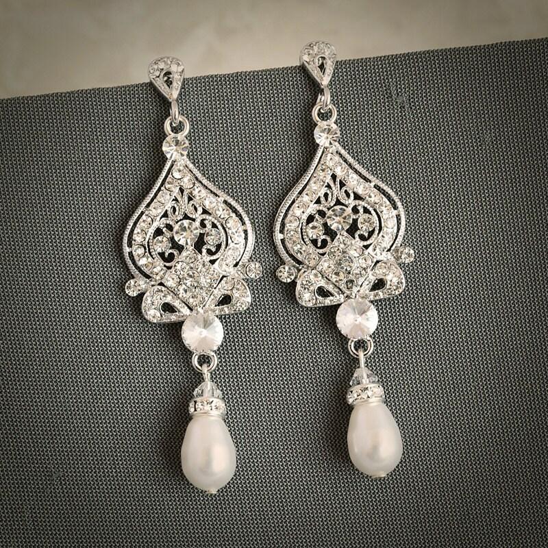 Vintage Style Earrings: GRACE Vintage Inspired Wedding Bridal Earrings By