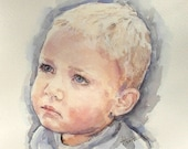Custom Children's Portrait, Original Watercolor Painting 8X10, 11X14, or 16X20