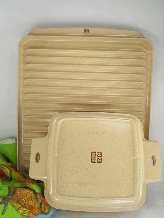 2 Vintage Littonware Microwave Cookware