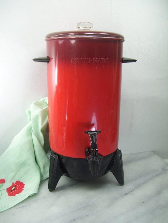 Mirro Percolator Coffee Maker : Mirro Matic Coffee Maker Red 22 Cup