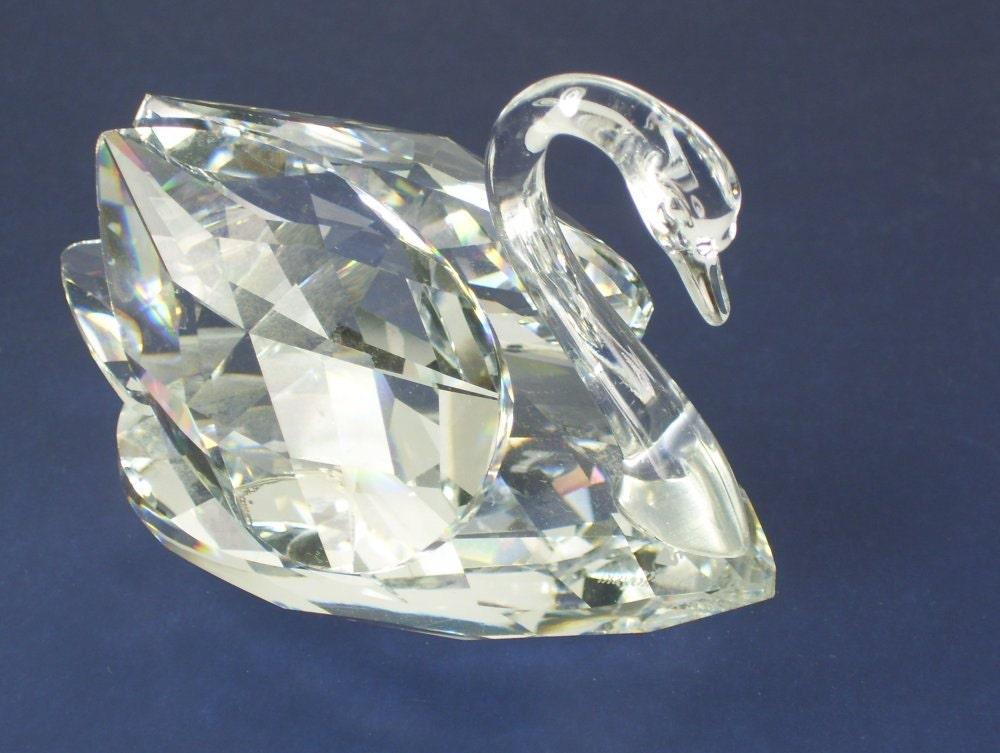 Vintage Swarovski Crystal Swan Figurine