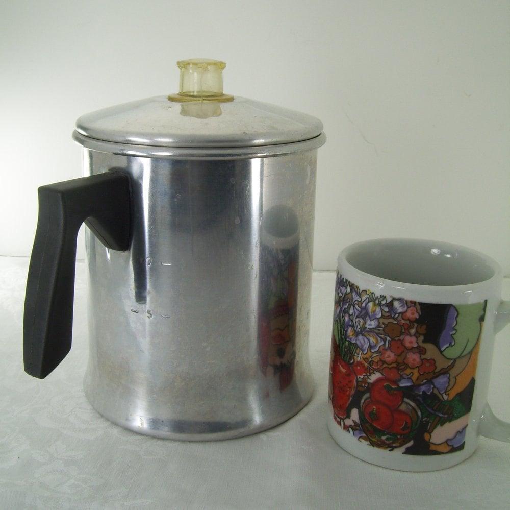 Mirro Percolator Coffee Maker : MIRRO Coffee Pot Stove Top Percolator 7 Cup