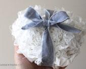 CUSTOM - By the Foot - Fabric Ruffled Garland- Wall Hanging - White Muslin - Wedding or Home Decor