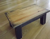 stool/ Primitive Black/ Southern Yellow Pine/ step stool/ foot stool/ solid wood