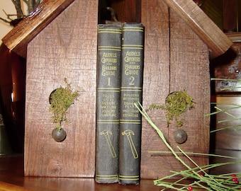Birdhouse Bookends Black Walnut Rough sawn