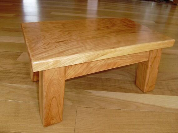 Stool Reclaimed Wood Solid Cherry Wood Step Stool Foot