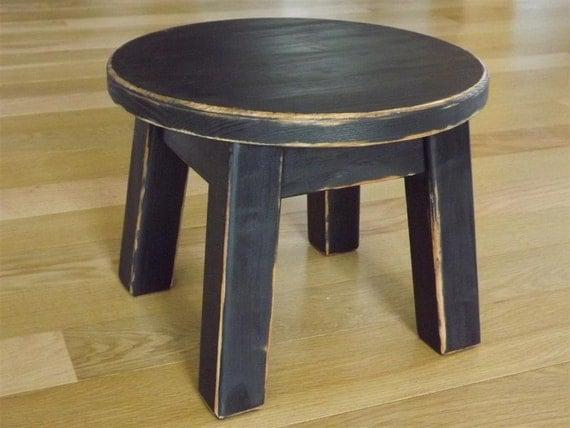 Stool Reclaimed Wood Painted Riser Round Stool Step Stool