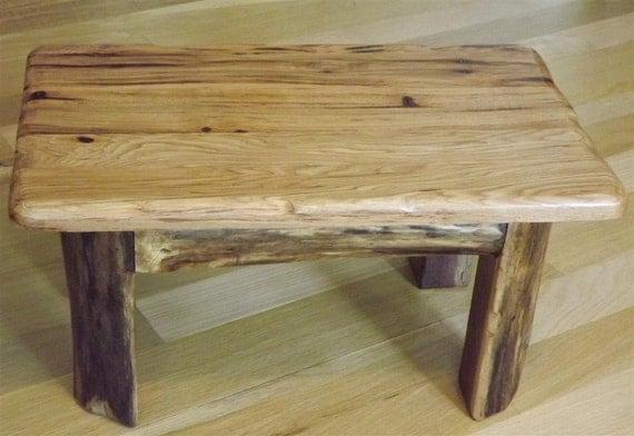 Stool/ Step stool/ foot stool/ Rustic/ hickory/ walnut log leg/