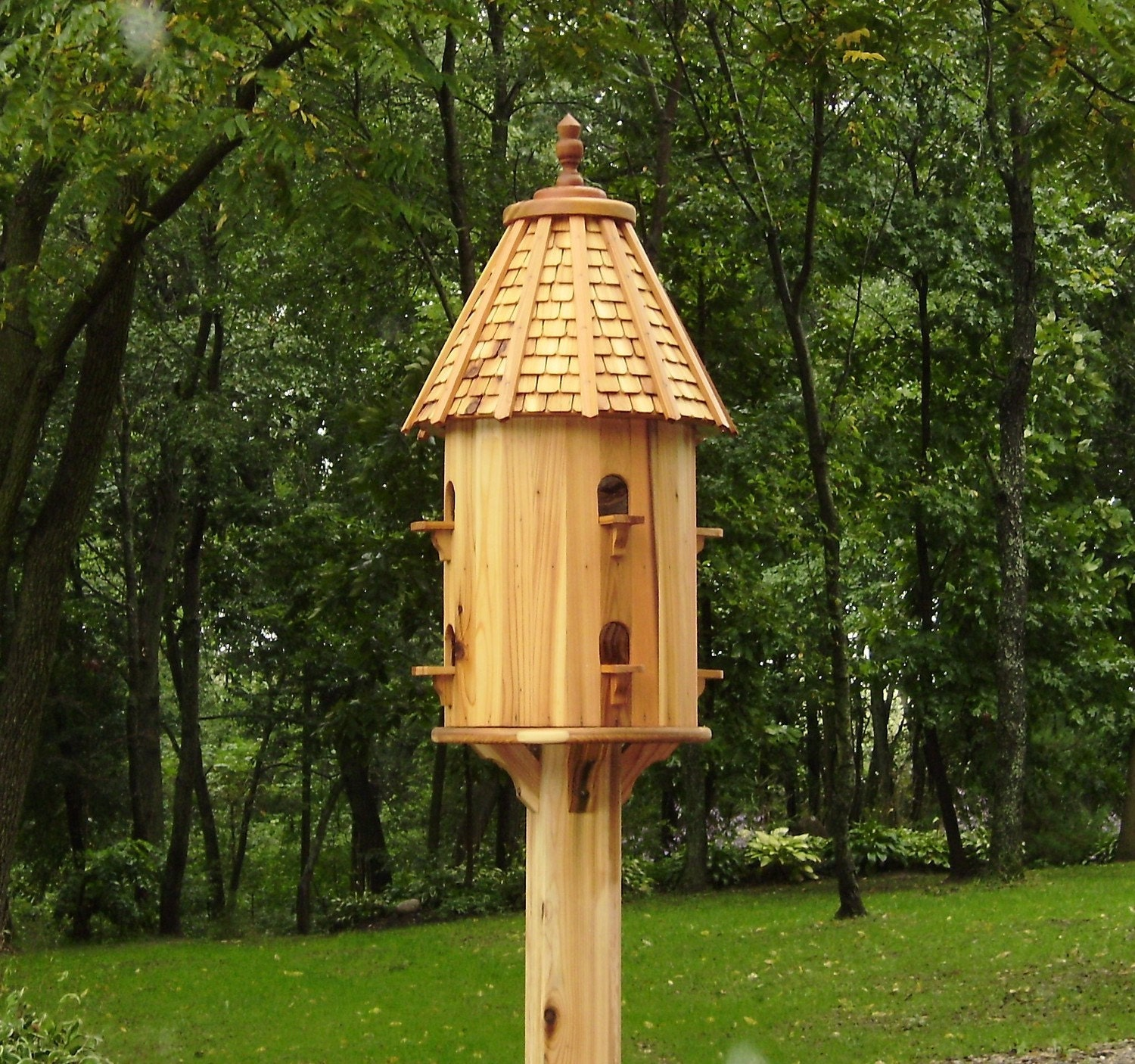 Cedar Purple Martin Bird House Free Shipping