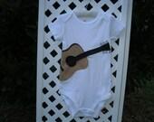 Felt Applique Acoustic Guitar Bodysuit
