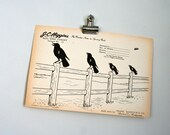 vintage paper shooting target - crows on fence - last one - free gift with 20 dollar target purchase