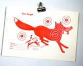 reproduction target collection: raccoon, fox and squirrel