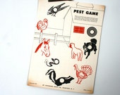 Vintage 1950s Farm Pests Paper Shooting Game Target