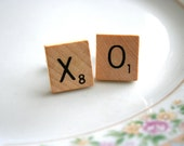 cuff links: valentine's day kisses and hugs scrabble tiles - last pair
