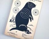 Vintage Original 1950s Groundhog Paper Shooting Target