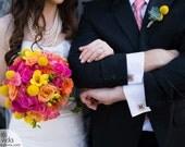 wedding cuff links:  custom scrabble tiles