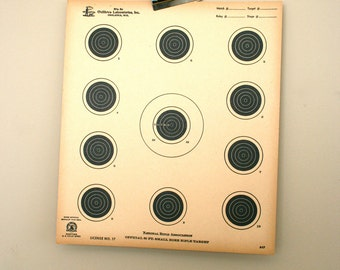 2 Vintage 1950s Large NRA Paper Shooting Targets