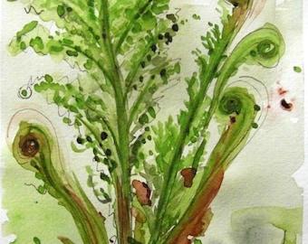 Ferns Modern Botanical Art Print, 12 x 16 Fern Art
