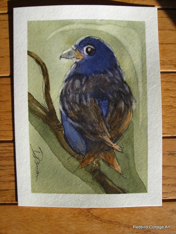Fine Looking Fellow Original Hand Painted Greeting Card
