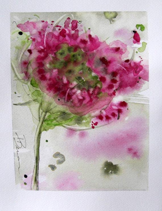 Queen Anne's Lace Floral Watercolor Original Art