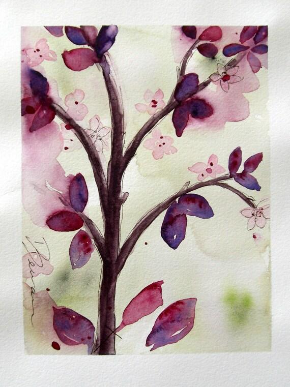 Spring Branch Original Watercolor Painting