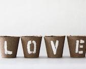 LOVE LETTERS Rustic Garden Votive Set
