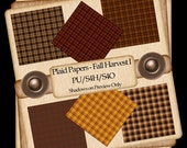 Fall Harvest Plaid Scrapbook Papers I