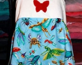 Butterfly Patchwork Apron Top