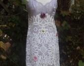 SALE,WAS 95.00Romantic Slip Dress,Lavender, Lace Slip DressVintage,Upcycled,Eco Friendly,OOAK