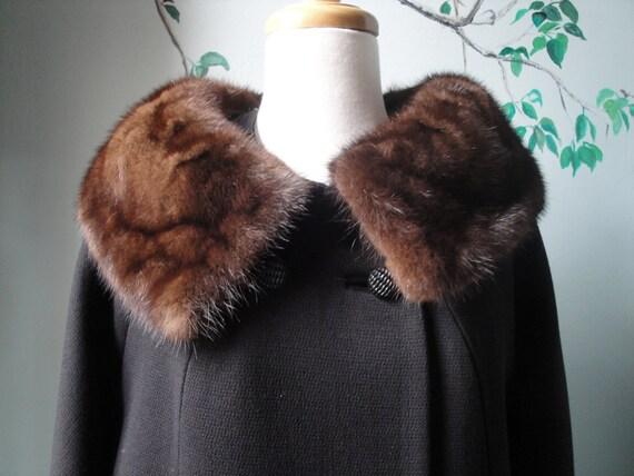 Fur Trimmed Black Car Coat SALE 25% off
