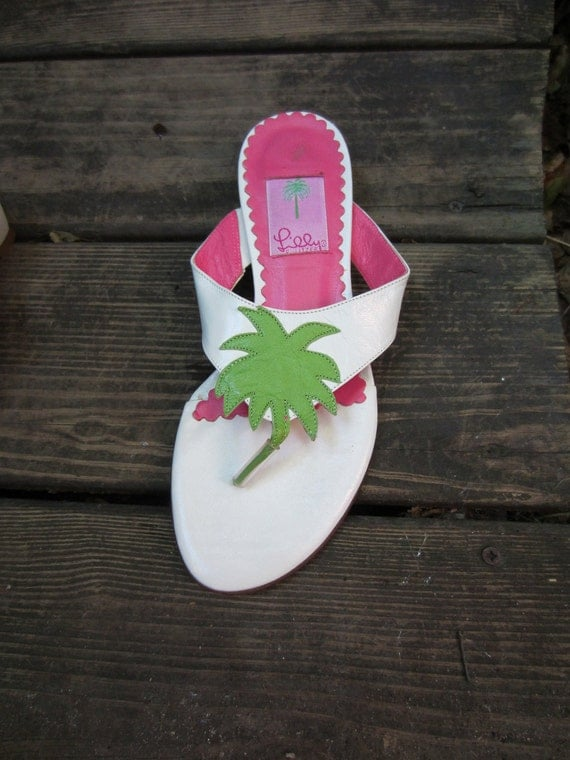 Lilly Pulitzer Palm Tree Sandals