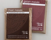 Chaat Masala and Garam Masala 50 gram bag of each